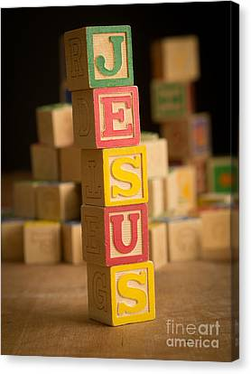 Jesus - Alphabet Blocks Canvas Print