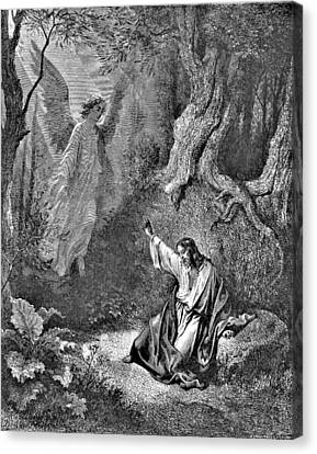 Jesus And Angel Bible Illustration Canvas Print
