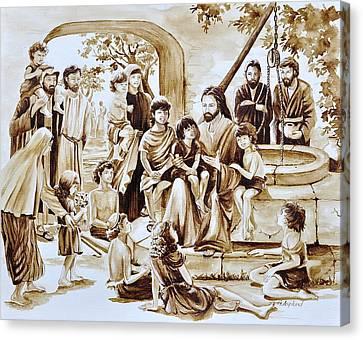 Jesus And Children Canvas Print