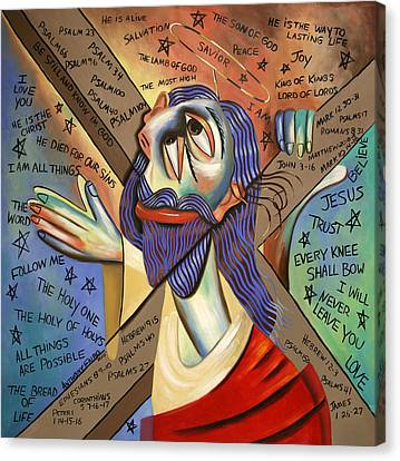 Jesus Canvas Print by Anthony Falbo