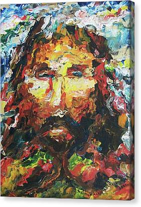 Jesus Are You There Canvas Print by Suzanne  Marie Leclair