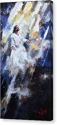 Jesus Ascending Canvas Print by Carole Foret