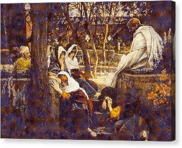 Jesus At Bethany Canvas Print by James Tissot
