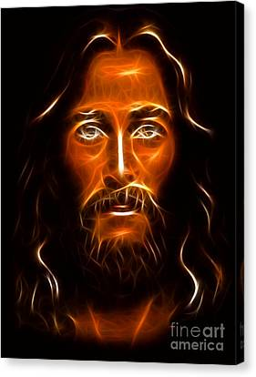 Brilliant Jesus Christ Portrait Canvas Print by Pamela Johnson