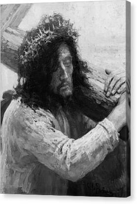 Jesus Carrying The Cross Circa 1898  Canvas Print by Aged Pixel