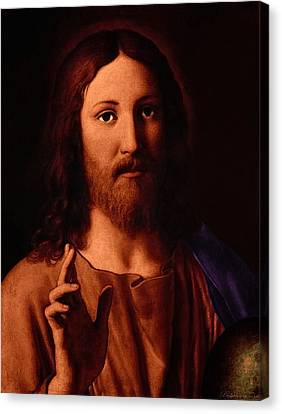 Canvas Print featuring the digital art Jesus Christ by A Samuel