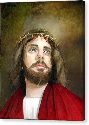 Jesus Christ Crown Of Thorns Canvas Print by Cecilia Brendel