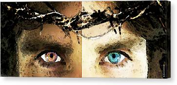 Jesus Christ - How Do You See Me Canvas Print by Sharon Cummings