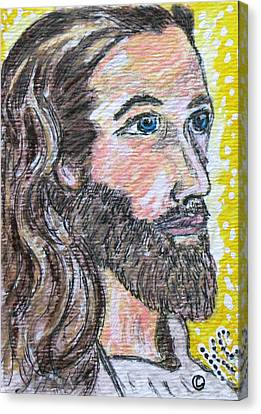 Jesus Christ Canvas Print by Kathy Marrs Chandler
