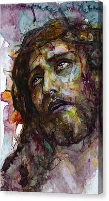 Canvas Print featuring the painting Jesus Christ by Laur Iduc