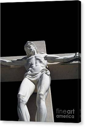 Jesus Christ On Cross Canvas Print by Dan Radi