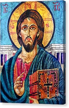 Jesus Christ The Pantocrator I Canvas Print by Ryszard Sleczka
