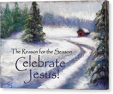 Jesus Christmas Canvas Print by Susan Jenkins