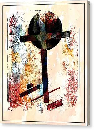 Jesus Christ_savior Of The World Canvas Print by Allen Beilschmidt