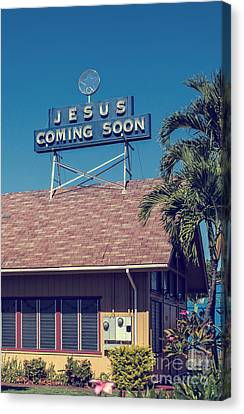 Jesus Coming Soon Church Maui Hawai Canvas Print by Edward Fielding