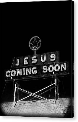 Jesus Coming Soon Canvas Print by Edward Fielding