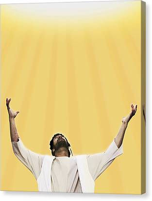 Jesus Cries Out To Heaven Canvas Print by Kelly Redinger