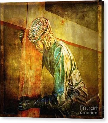 Jesus Falls Via Dolorosa 3 Canvas Print