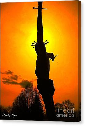 Jesus In Sunset 1 Hope Canvas Print