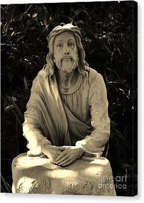 Jesus In The Garden Canvas Print by Bob Sample