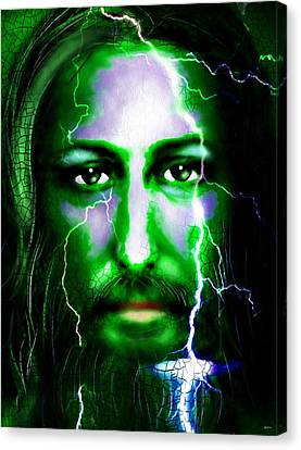 Jesus In The Storm Canvas Print by Daniel Janda