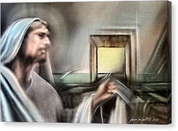 Jesus - Knocking 2013 Canvas Print by Glenn Bautista