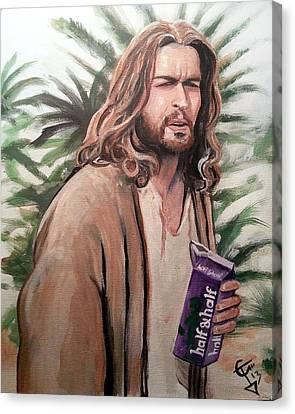 Jesus Lebowski Canvas Print by Tom Carlton
