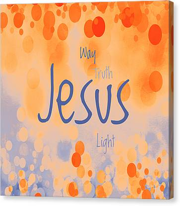 Jesus Light 2 Canvas Print by Angelina Vick