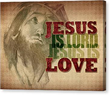 Jesus Love Canvas Print by Michele Engling