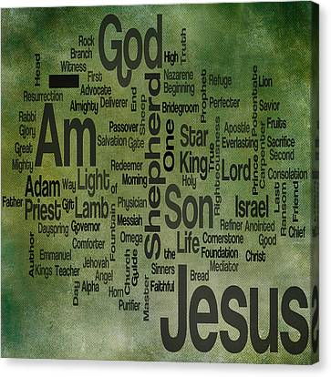 Jesus Name 1 Canvas Print by Angelina Vick
