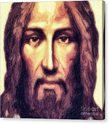 Jesus Face Canvas Print - Jesus by Nishanth Gopinathan