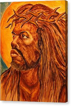 Jesus Of Color Canvas Print by Clyde Taylor