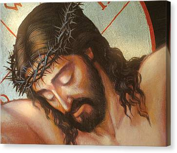 Jesus On The Cross Variant 2 Canvas Print by Zorina Baldescu