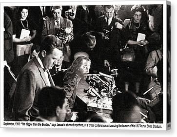 Jesus Press Conference 1966 Canvas Print