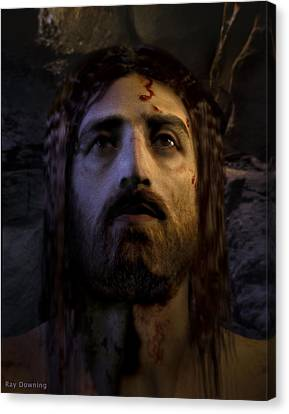 Jesus Face Canvas Print - Jesus Resurrected by Ray Downing
