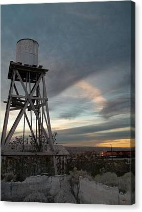 Jesus Saves Watertower - Route 66 Canvas Print by Glenn McCarthy Art and Photography