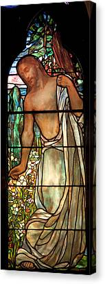 Chape Canvas Print - Jesus Stained Art - St Paul's Episcopal Church Selma Alabama by Mountain Dreams