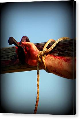 Jesus Thank You Canvas Print by Sheri McLeroy