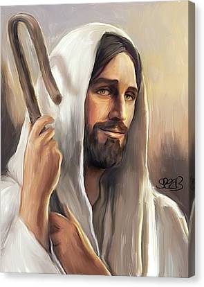 Jesus The Shepherd Canvas Print by Mark Spears