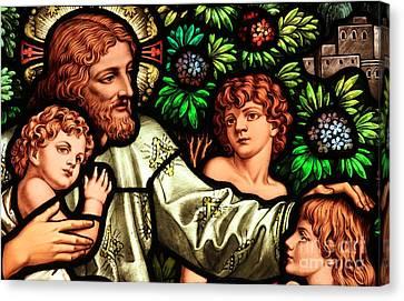 Jesus With Children Canvas Print