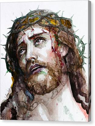 Canvas Print featuring the painting The Suffering God by Laur Iduc