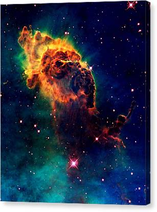 Jet In Carina Canvas Print by Amanda Struz