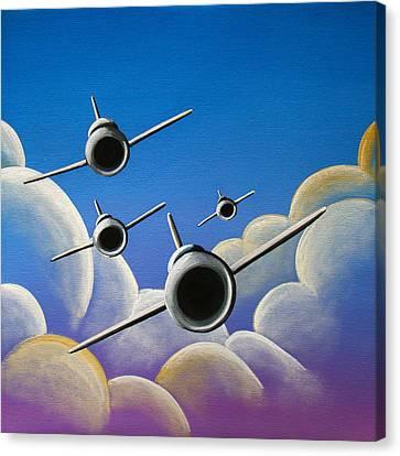 Jet Quartet Canvas Print