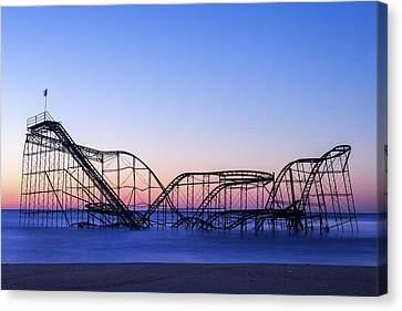 Jet Star Coaster Canvas Print by Rob Rauchwerger