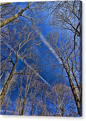 Canvas Print featuring the photograph Jet Trails by Robert Culver