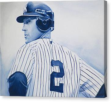 Jeter Canvas Print by Derek Donnelly