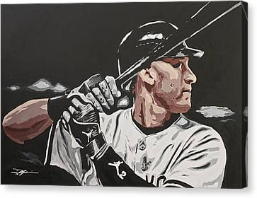 Jeter  Canvas Print by Don Medina
