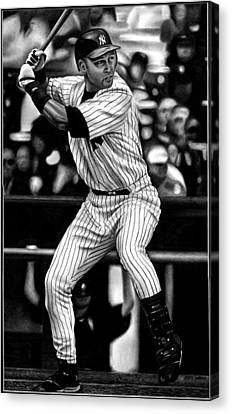 Jeter Canvas Print by Jerry Winick