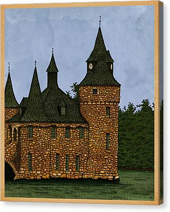 Canvas Print featuring the drawing Jethro's Castle by Meg Shearer