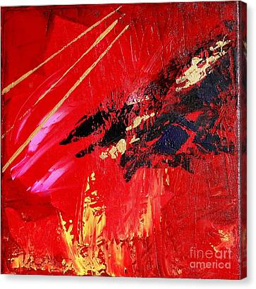 Canvas Print featuring the painting Jetlag by Susanne Baumann